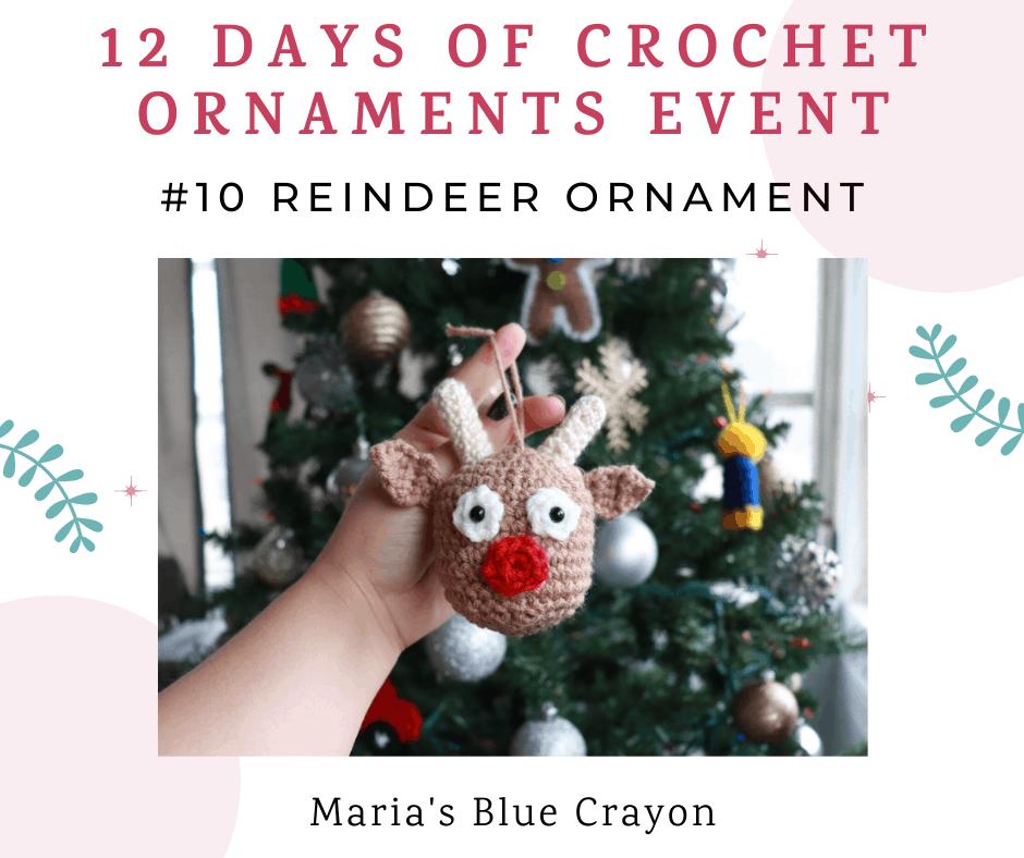 crochet reindeer ornament pattern