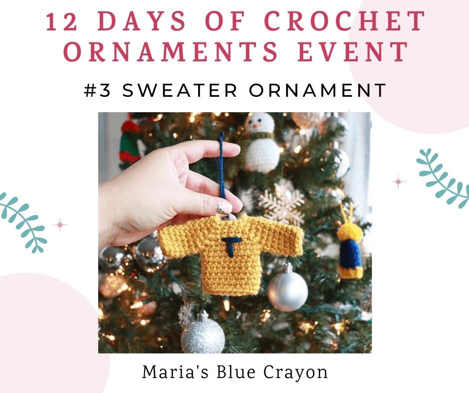 crochet sweater ornament