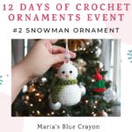 crochet snowman ornament