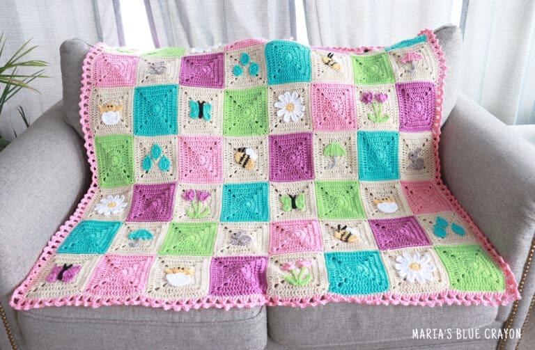 crochet spring blanket