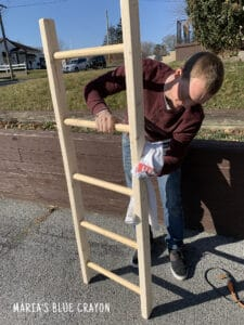 sanding blanket ladder