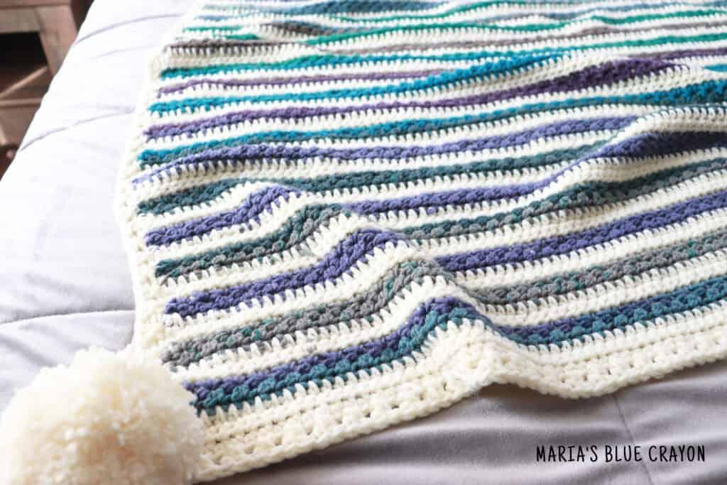 crochet star stitch blanket