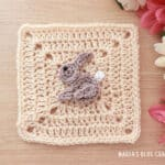 crochet bunny applique