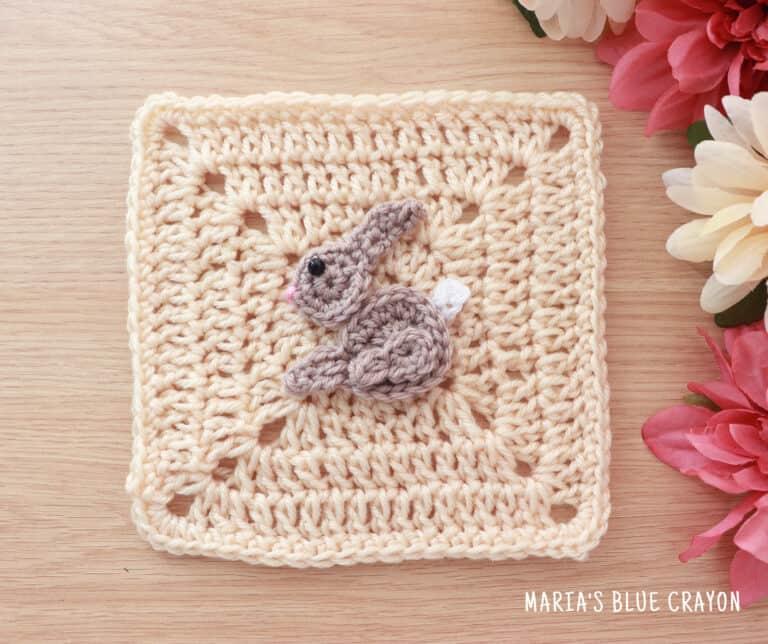 crochet bunny applique