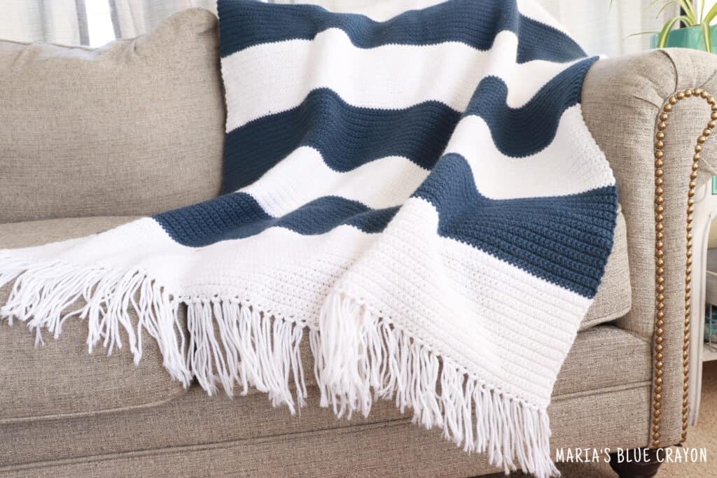 easy simple crochet blanket pattern