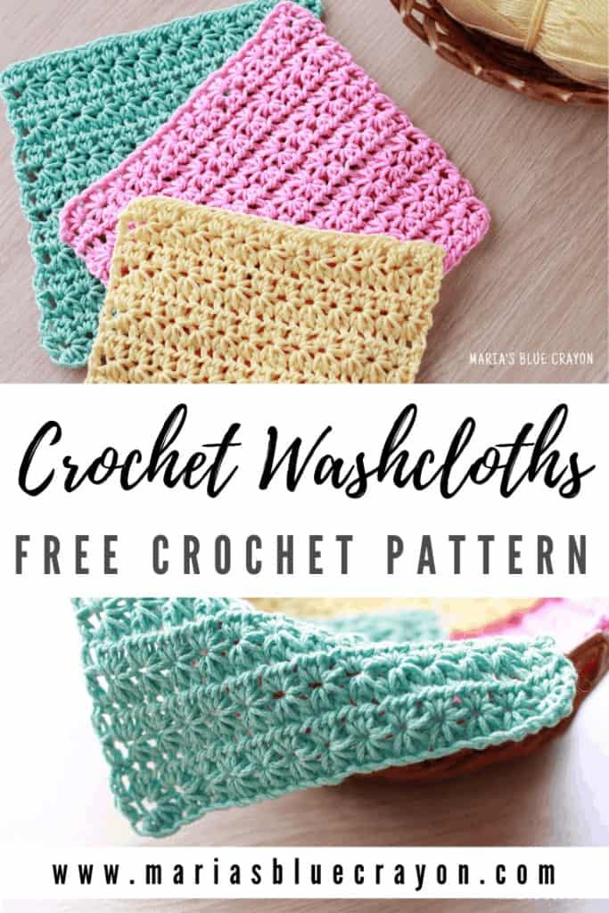 crochet washcloth free pattern