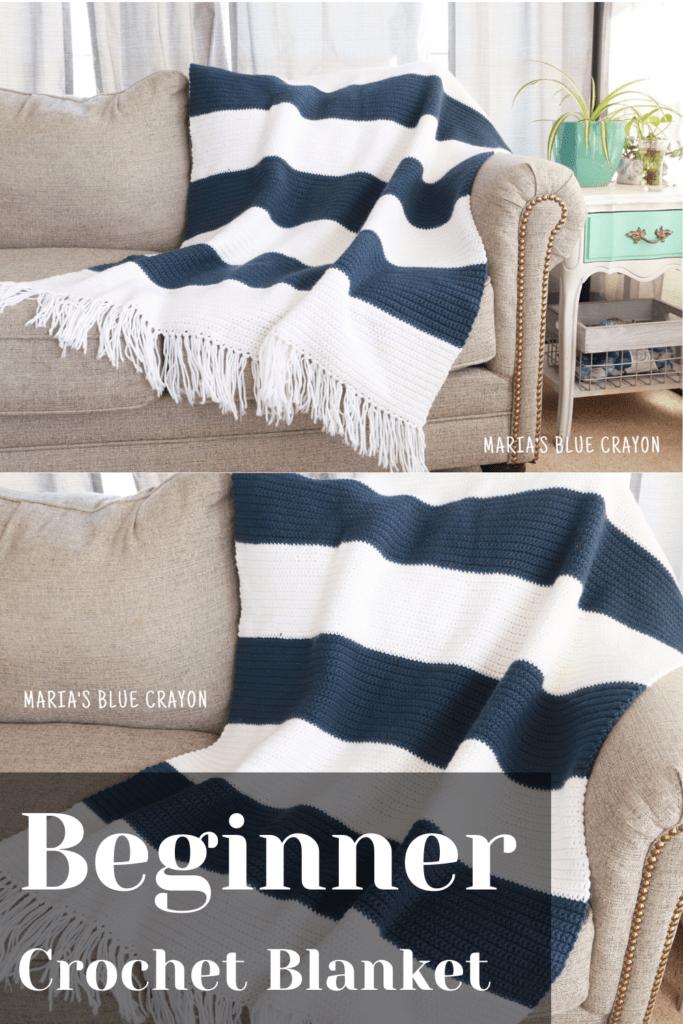 striped crochet blanket pattern for beginners