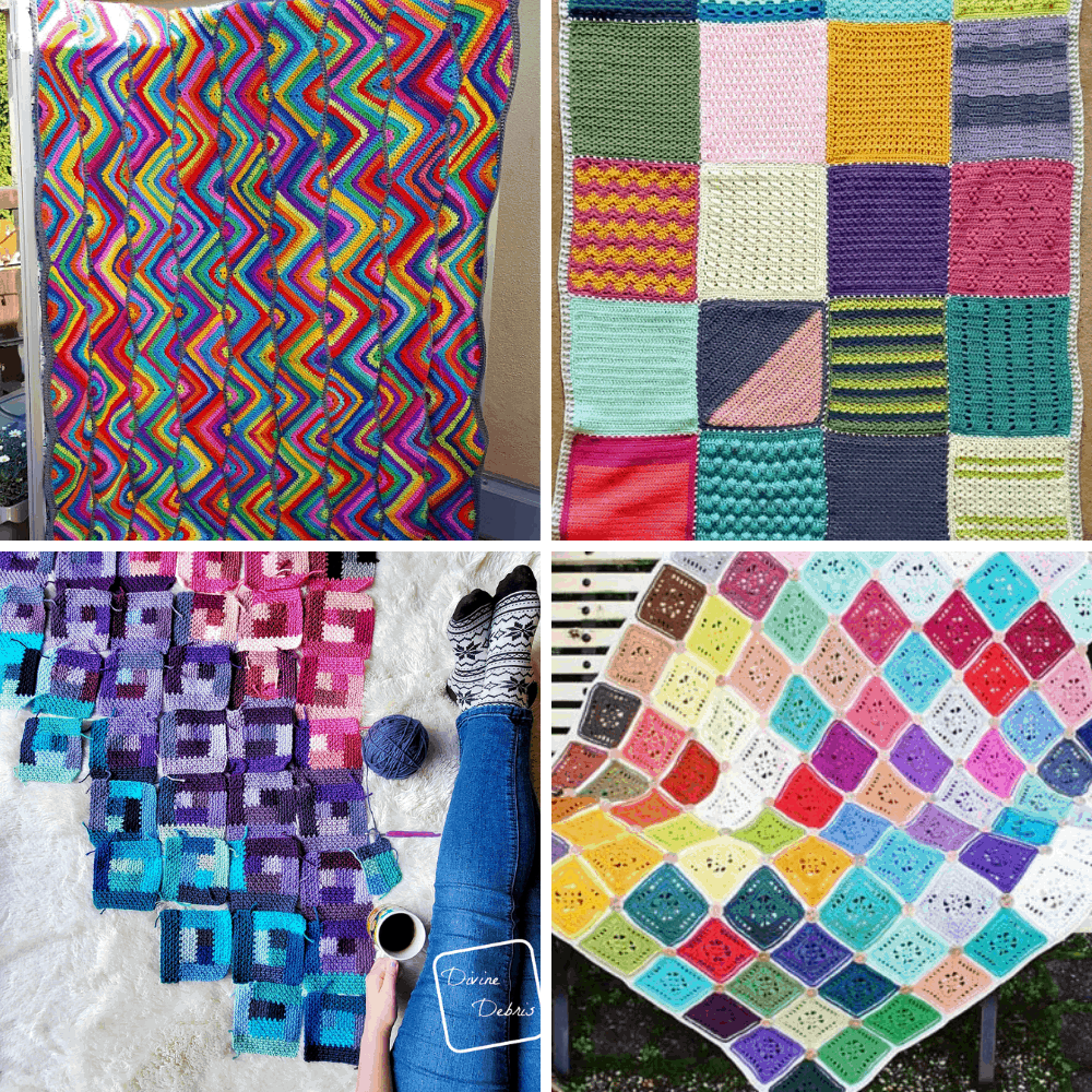 crochet scrap afghan patterns
