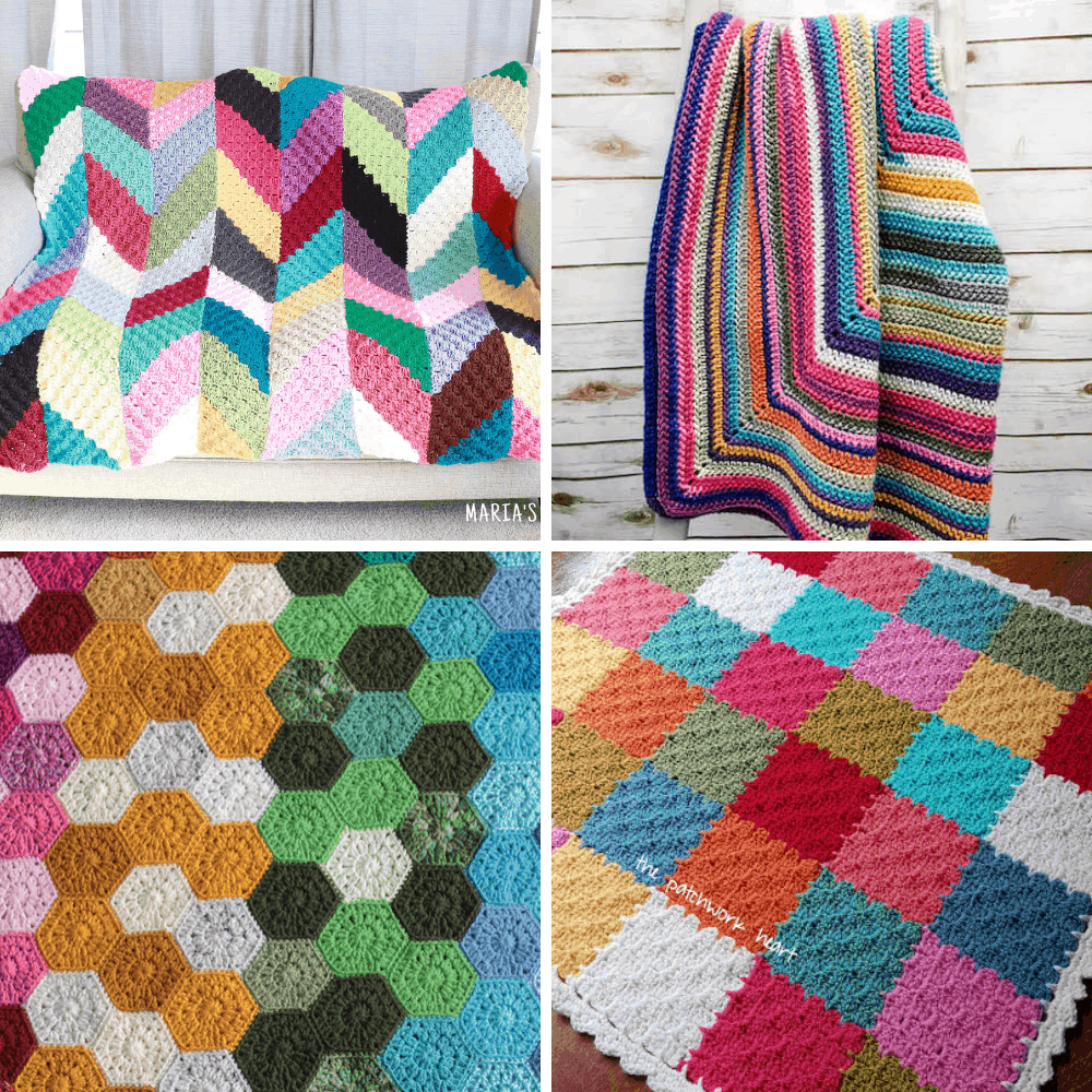 crochet scrap blanket patterns