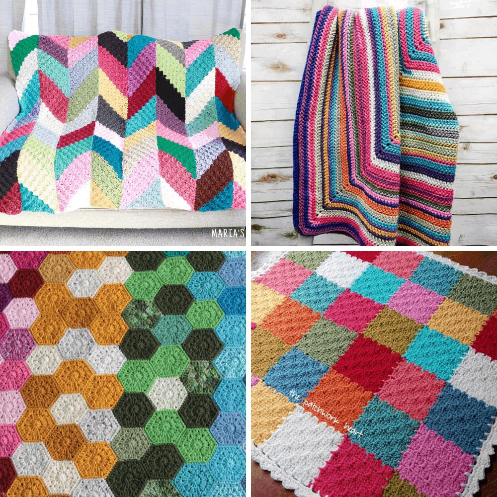 crochet scrap blanket patterns