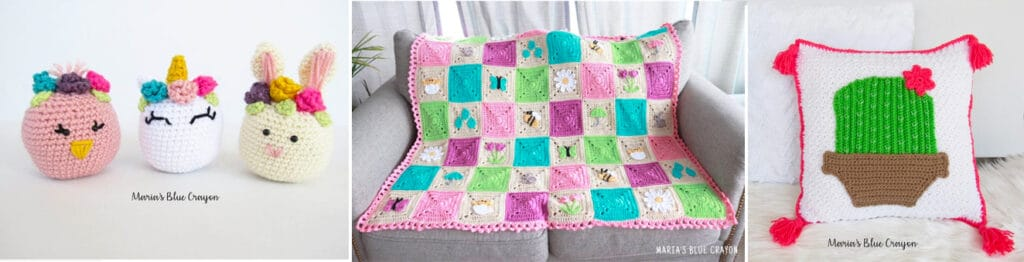 Spring themed crochet patterns