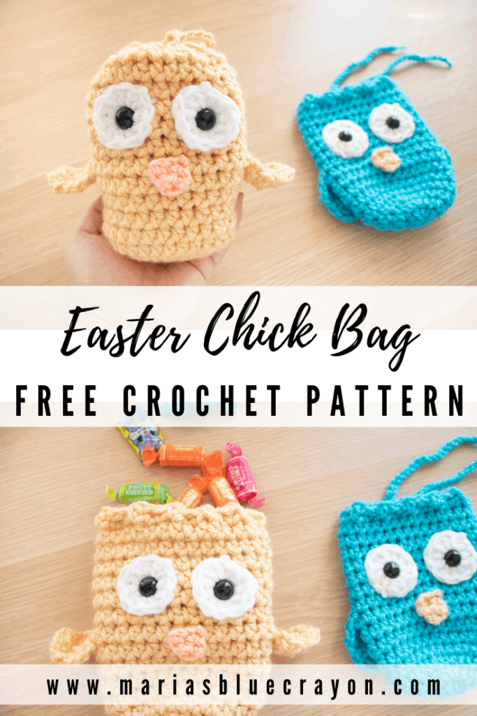crochet easter chick treat bag pattern
