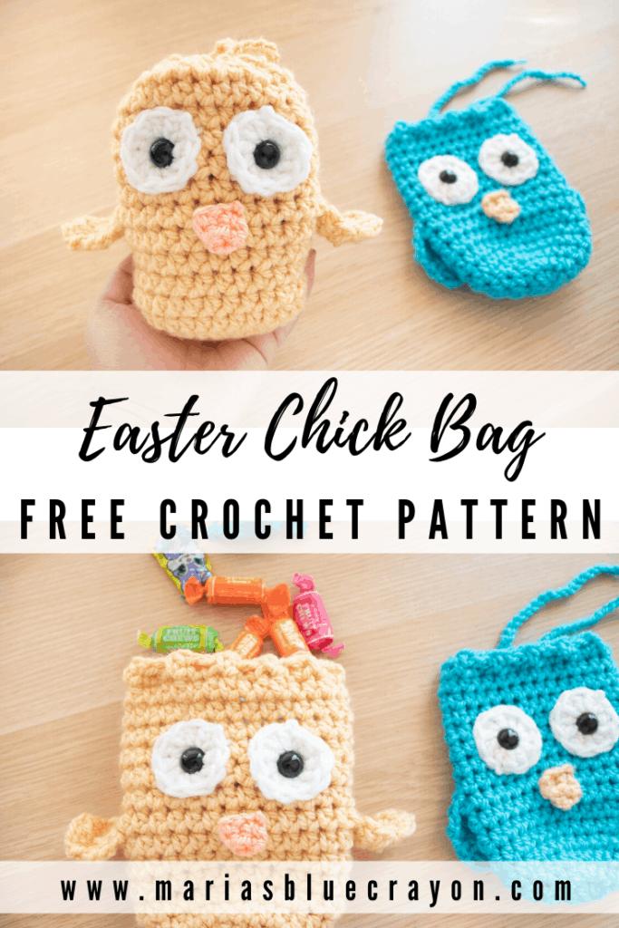 crochet easter chick treat bag pattern