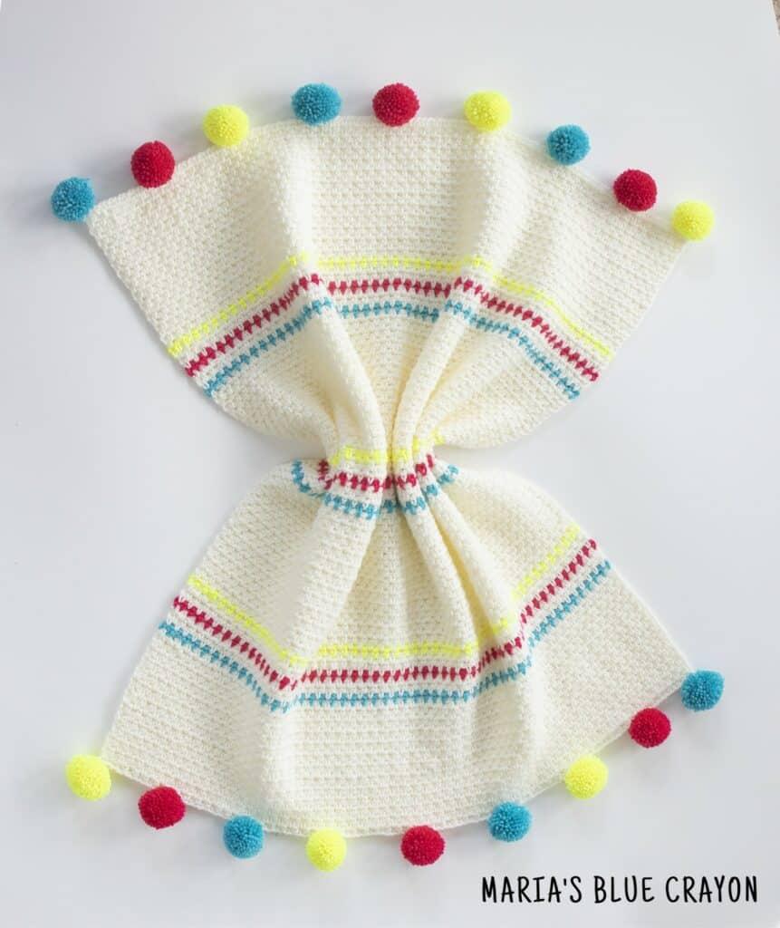 crochet moss stitch blanket