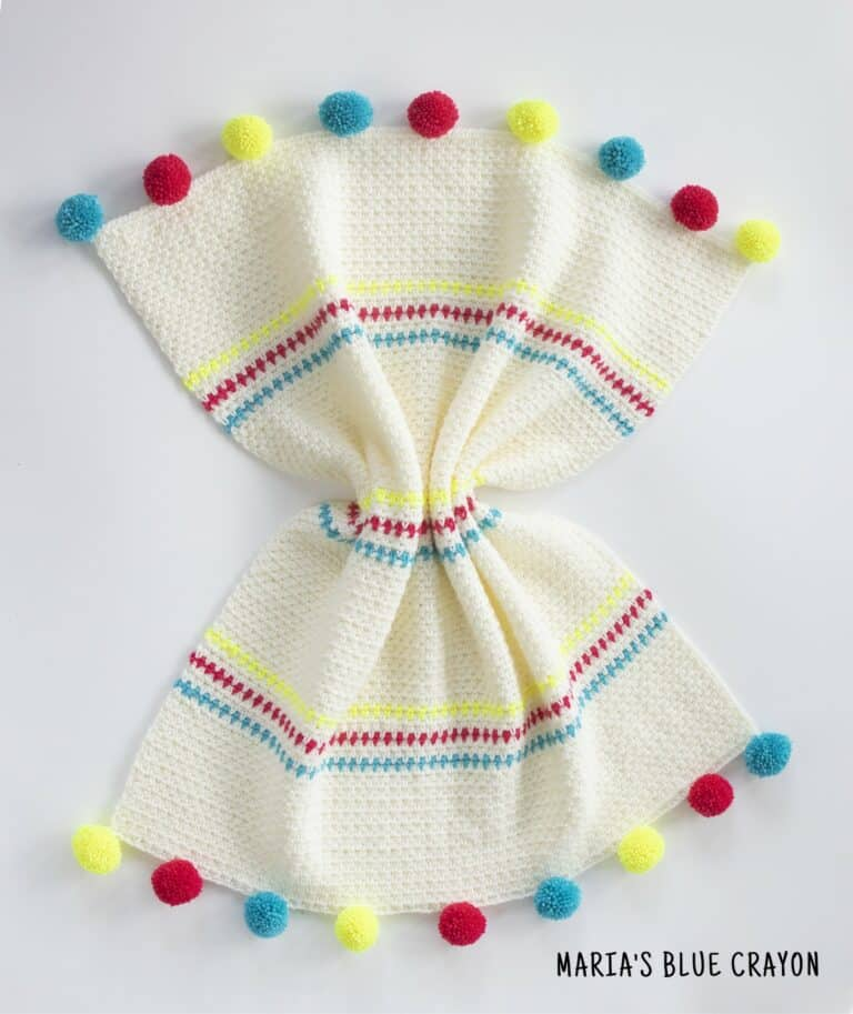 crochet moss stitch blanket pattern