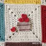 crochet apple basket applique pattern
