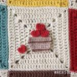 crochet apple basket applique pattern