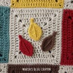 crochet leaves applique pattern