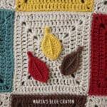 crochet leaves applique pattern