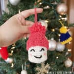 marshmallow christmas crochet ornament pattern