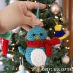 crochet penguin christmas ornament