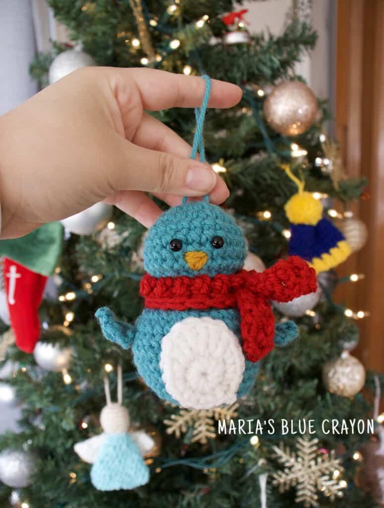 crochet penguin christmas ornament pattern