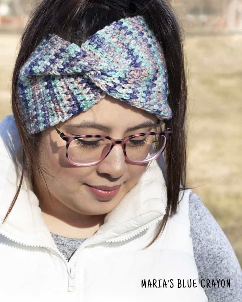 crochet twisted ear warmer pattern