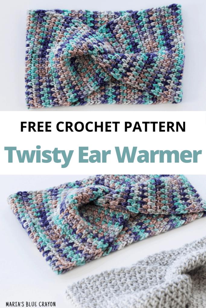 Pinterest Free Crochet Twisted Ear Warmer pattern