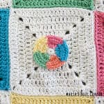 crochet beach ball applique pattern