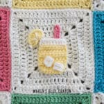crochet lemonade applique pattern