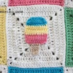crochet popsicle applique pattern