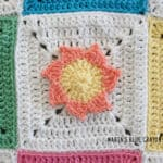 crochet sun applique pattern