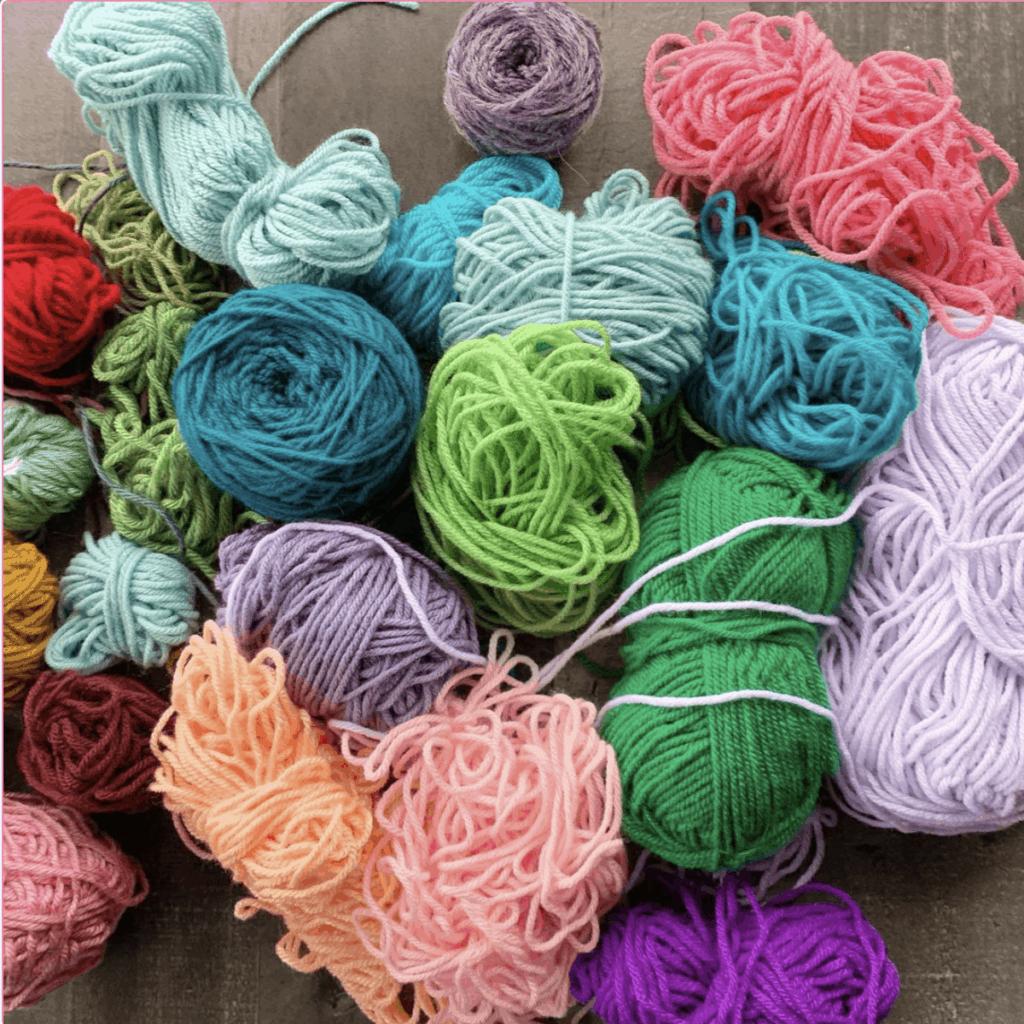 crochet scrap yarn