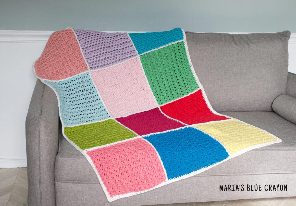 crochet stitch sampler blanket