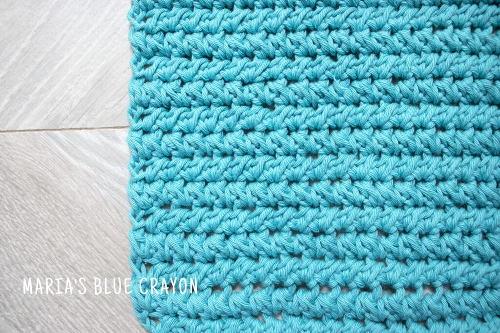 Crochet Paired Half Double Crochet Stitch in Cotton