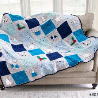 winter blanket crochet pattern
