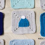 crochet beanie applique pattern
