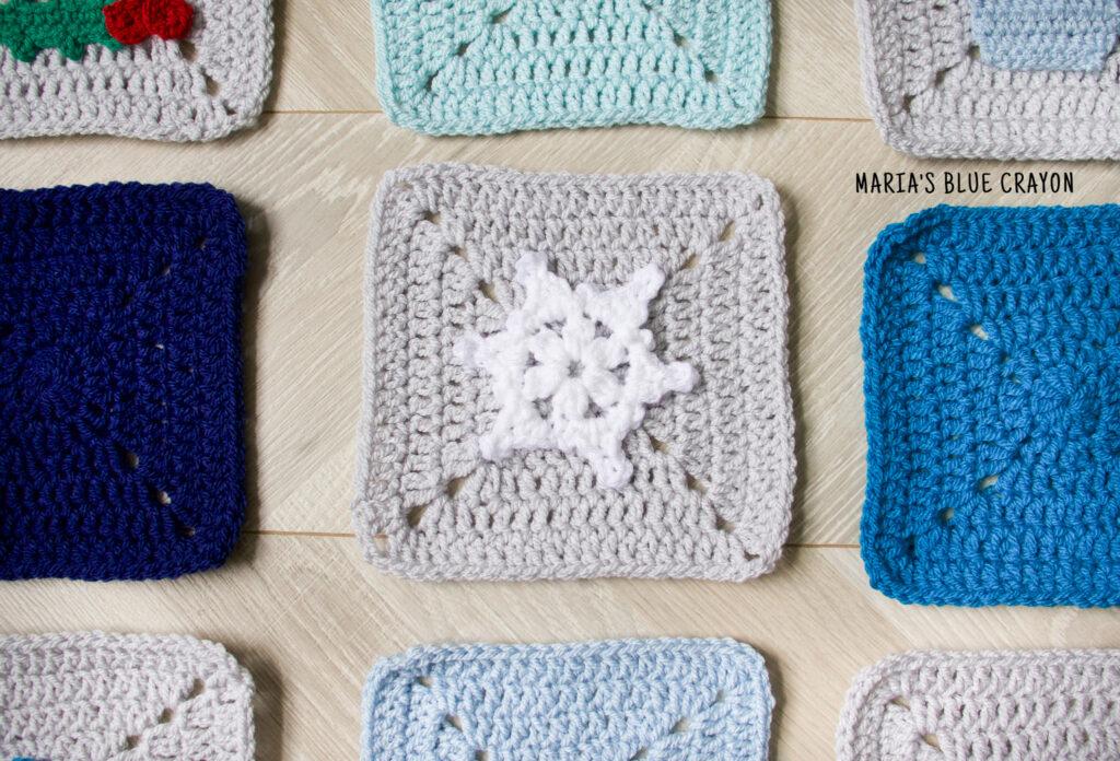 crochet snowflake applique pattern
